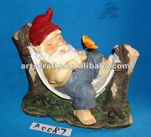 Sleeping garden resin gnome