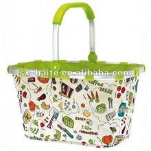 Folding shopping basketMarket toteSupermarket cart bag