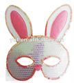 dia de páscoa de lantejoulas altivo coelho máscara