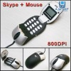 800DPI USB OPTICAL SKYPE MOUSE VOIP INTERNET MSN SPEAKER PHONE
