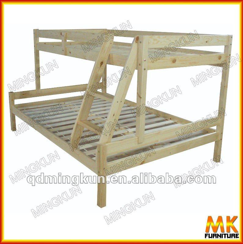 Nuevo estilo de madera litera camas para ni os - Como hacer una litera ...