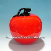Fashion Decorative Glass Apple LRT321