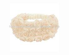 white crochet flower stretch headband/hair band for girls and women
