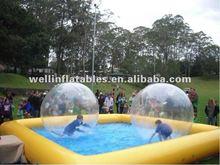 2014 air sealed transparent water ball/ aqua ball