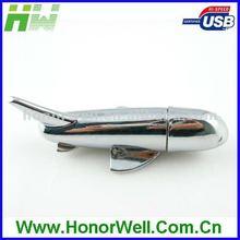 airplane shape metal USB flash drive