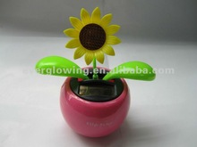 Solar power dancing flower car decoration