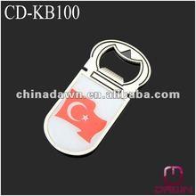 Metal bottle opener magnet for promotion CD-KB100