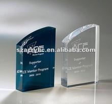acrylic brand logo block plaque