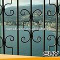 Decorativa de acero, ventana de hierro forjado diseño de la parrilla