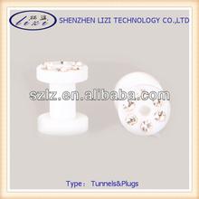 body jewelry uv acrylic crystal ear flesh tunnel