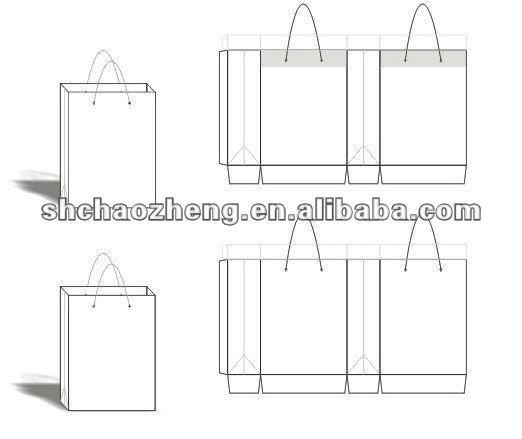 Paper Bag Design Template Paper Bag Design Template