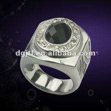 Hot sale metal cheap fashion rings with big rhinestone