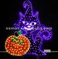 luces de halloween decoración de halloween gato y de calabaza