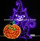 halloween lights decoration halloween cat and pumpkin