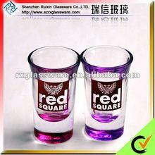 2012 Promotional Unique Design OEM Hot Lead Free Round Shape Shot Glassware