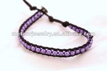 Pretty in Purple Mini Wrap Bracelet-Crystal Pearls