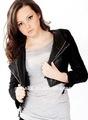 las mujeres pequeñoshotsell chaqueta corta de cuero