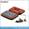 portable solar mobile phone case, solar mobile phone charge bag with 2200mah battery