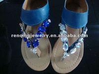2012 beautiful flip flops colorful chain sandal jewelry