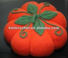 100% handmade Knit Crochet Decorative Pumpkin Pillow Cushion Cover