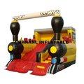 2014 caliente de la venta camión de bomberos deslizante inflable de juguete