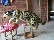 Fiberglass Animal Sculptures-----Leopard Model for Sale