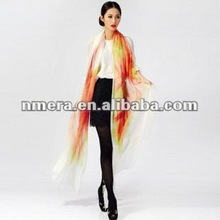 Manufacturer Wholesale 100% Cashmere Scarf, supper long, hand painted Shawl