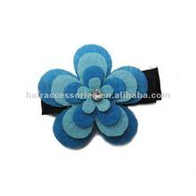 Felt flowers ornament hair clips