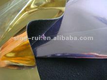 New Foil Metallic PU leather