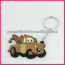 fashion pvc car automobile keychain key chain keyring