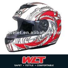 White ECE Full face helmet WLT-101 White/6#