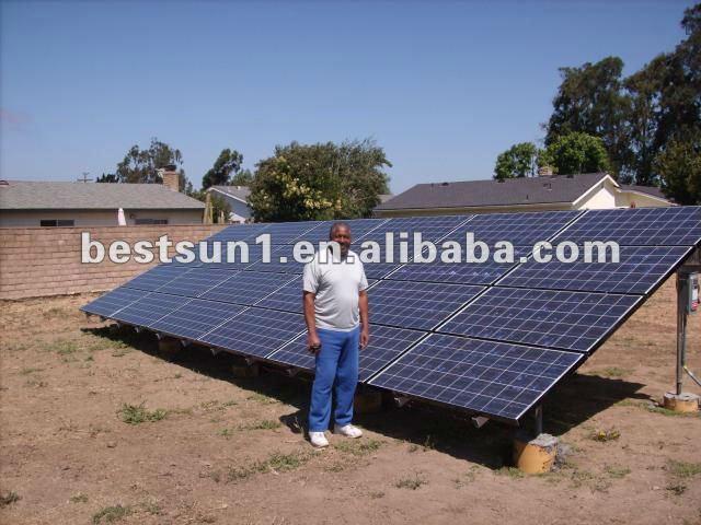 Complète avec batterie et supports Bestsun BPS10kw production d'énergie solaire