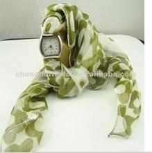 Fashion Scarf Watch lady silk fabric watch japan movement (CH3094S)