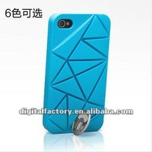 2012 New stage shock listed Coin cellphone protective case Hard ABS PC case for iphone 4 4s--6 colors