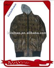 2012 men's shiny qailted nylon windbreaker jacket