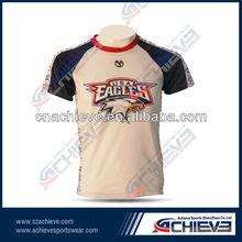 100%polyester custom team soccer shirts football