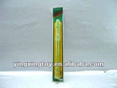 Brinquedo de plástico transparente clarinete brinquedo