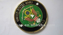 2012 army coins with epoxy enamel military coins plated nickel