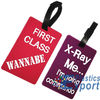 Plastic promotional luggage tag with CE standard