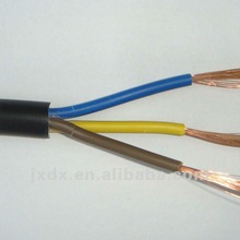 China RVV 3core round power cable for hotplate