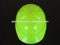 CE & ANSI Hi-viz green color safety Helmet