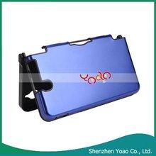 For NDSi LL Plastic Aluminum Hard Shell Case Deep Blue