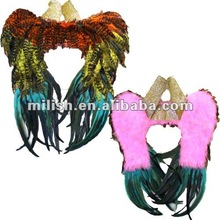 Party Plush carnival glitter feather wings/angel wings MW-0180