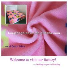 100% Polyester 144F Cartoon Printed Coral Fleece Fabric