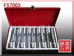 9-delig E-Socket / 9-delig star-dop set auto tool kit in metal box
