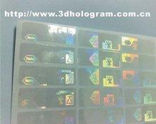 Transparent Hologram overlays stickers