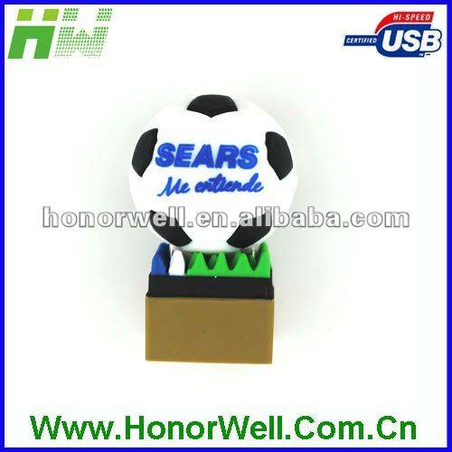 Soccet USB Flash Drive No Case Football USB Memory Stick