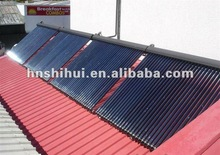solar collectors with heat pipe vacuum tubes