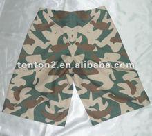 mens microfiber board shorts with camo print