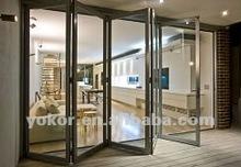 double glazed aluminium exterior bifold door&glass bifold door&bifold louver door